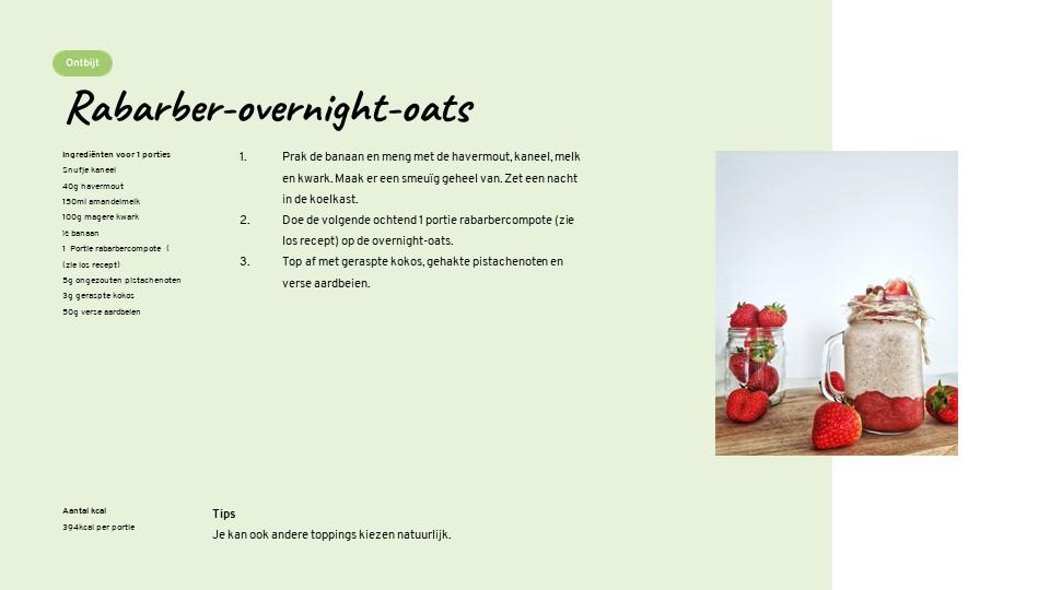 Lizzybox recepten rabarber overnight oats